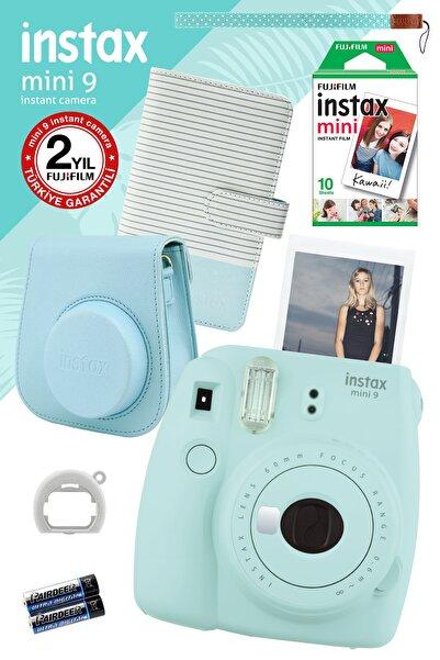 Instax Mini 9 Açık Mavi Fotoğraf Makinesi Ve Hediye Seti 2 /