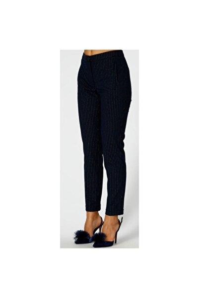Fabrika Kadın Lacivert Kumaş Pantolon