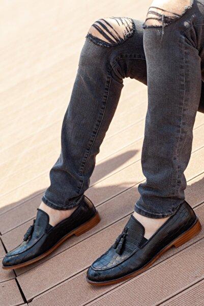 MUGGO H052 Hakiki Deri Loafer Erkek Ayakkabı