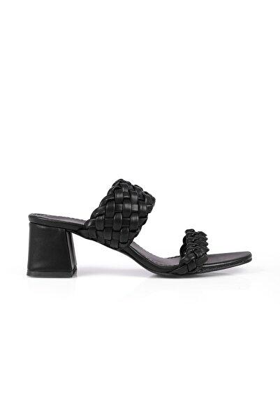 Oblavion Viola Siyah Topuklu Terlik