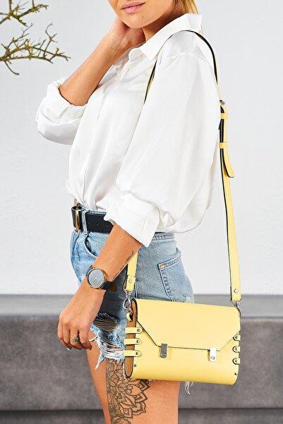 Louis Cardy Kadın Roxy Sarı Omuz Çantası
