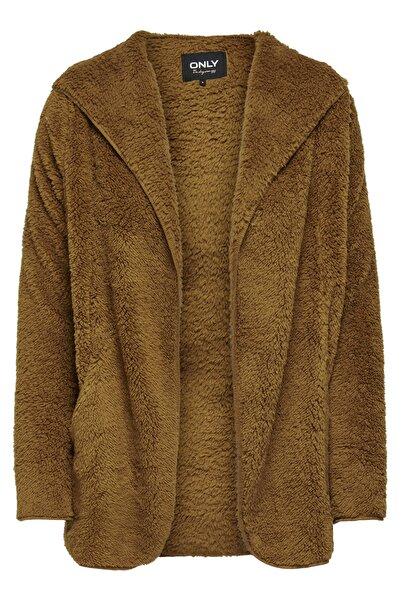 Only Hırka Onlnew Contact Hooded Sherpa Coat 15161142-RUB
