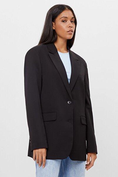 Bershka Kadın Siyah Oversize Blazer