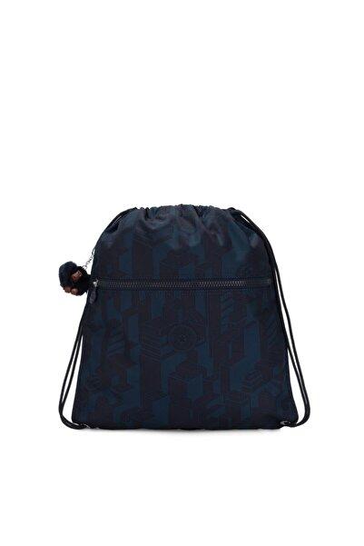Kipling Unisex Mavi Supertaboo Orta Boy Sırt Çantası
