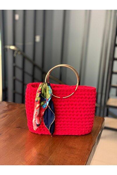 Accessories Kadın Kırmızı Örgü Çanta