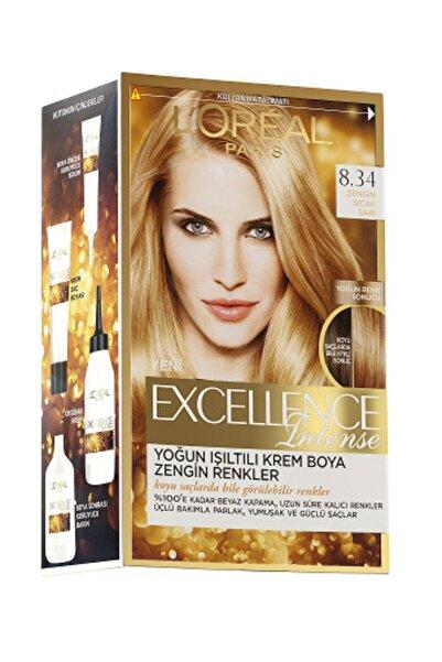 L'Oreal Paris Excellence Intense Saç Boyası 8.34 Zengin Sıcak Sarı