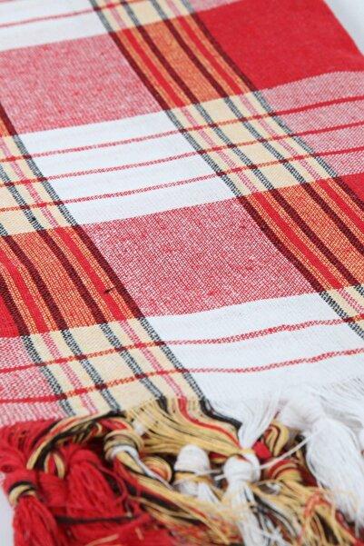 Peştemalcı Levent Klasik Hamam Peştamalı, %100 Pamuk, 80x180 Cm.-kırmızı