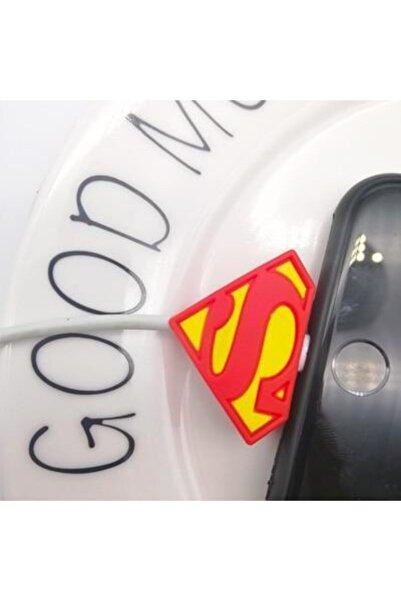 MY MÜRDÜM Sevimli Silikon Kablo Koruyucu Superman
