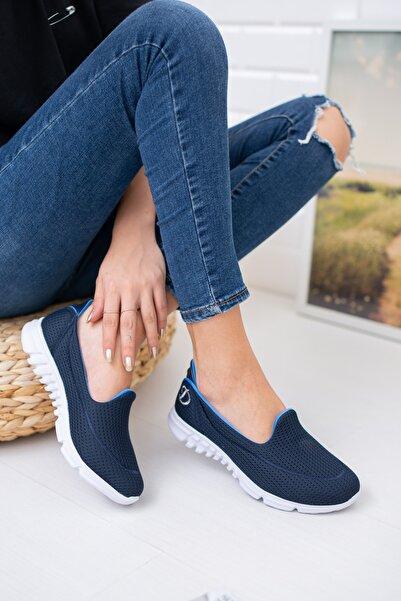 meyra moda Lacivert Fileli Memory Foam Ayakkabı