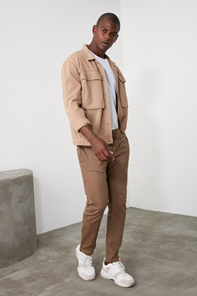 TRENDYOL MAN Camel Erkek Jogger Pantolon TMNAW21PL0247