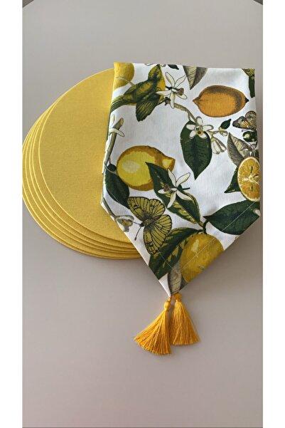 Premier Limon Desenli Runner + 6 Lı Supla Set