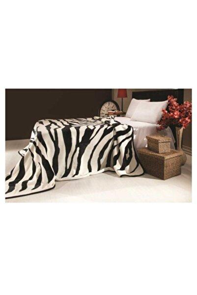 MİNK Battaniye Tek Kişilik Solana 223 Zebra Siyah