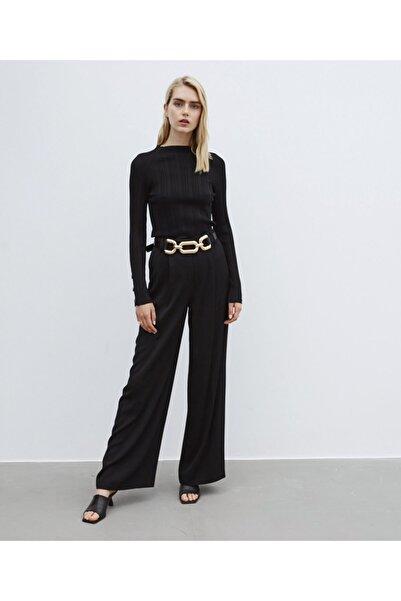 İpekyol Kadın Siyah Yüksek Bel Pantolon