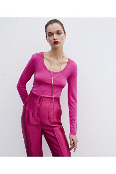 İpekyol Kadın Geniş Yaka Basic Bluz