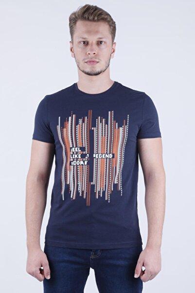 Canelia Erkek Lacivert Slimfit T-shirt