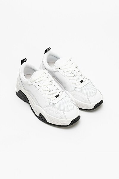 VERSACE JEANS COUTURE Kadın Beyaz Yumuşak Deri Mesh Sneaker