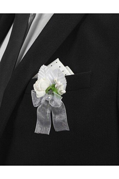 Tudors Beyaz Erkek Yaka Çiçeği