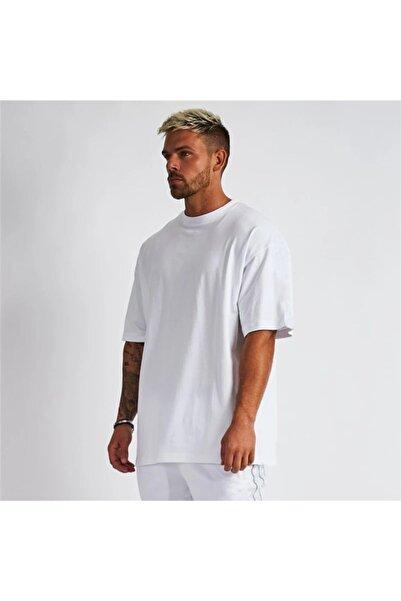 Da Vinci Unisex Beyaz Bol Kesim Tshirt