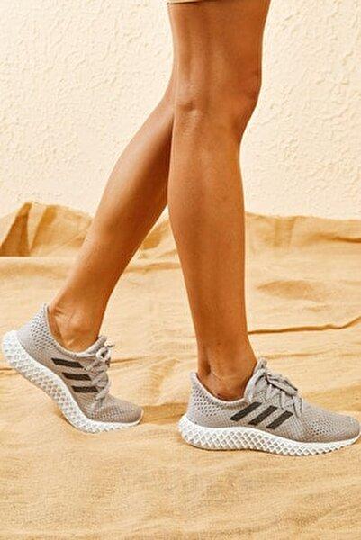 Kadın Füme Rahat Triko Örme Ayakkabı AYKB001