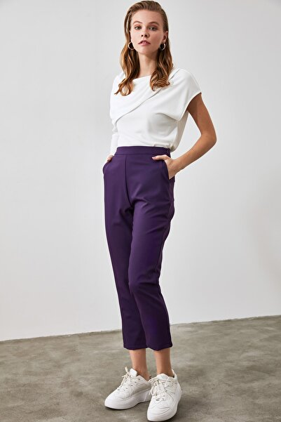 TRENDYOLMİLLA Mor Basic Pantolon TWOAW21PL0193