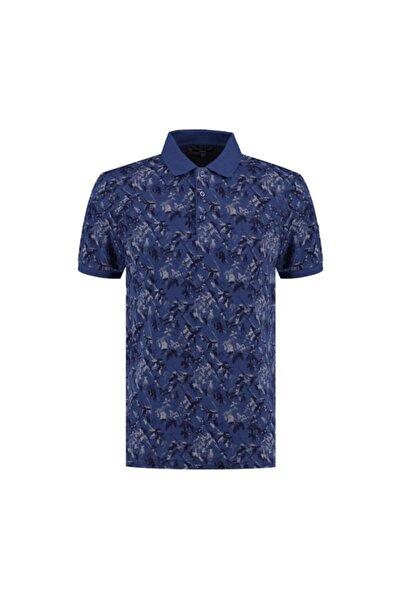 Sarar Erkek Interview Polo Yaka Indigo Mavi T-shirt