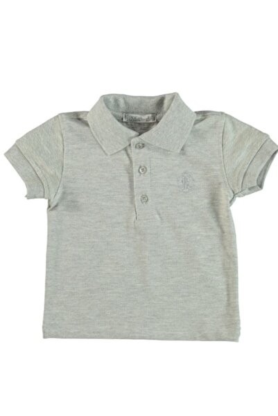 Monna Rosa Erkek Çocuk Gri Polo Yaka T-shirt