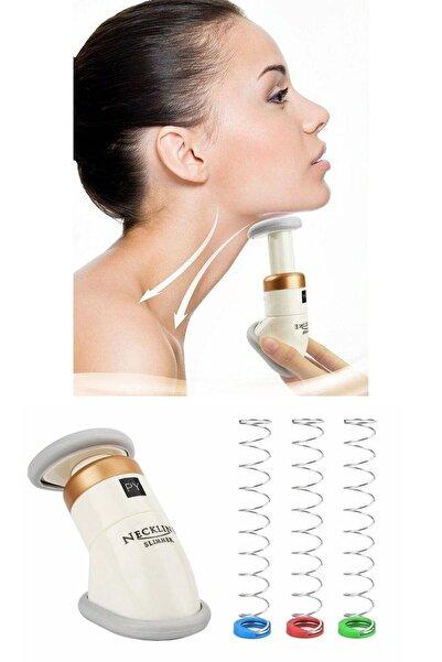 Astonish Unisex Beyaz Neckline Slimmer Gıdık Giderici Eritme Çene Ve Boyun Masaj Cihazı