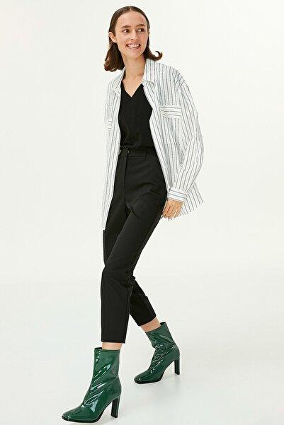 Twist Kadın Beyaz Çizgili Gömlek TW6200025079