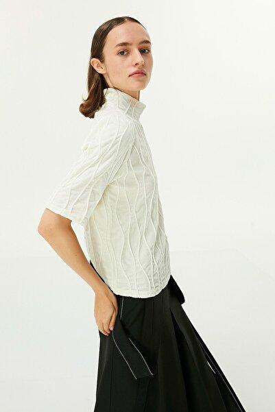 Twist Kadın Ekru Balıkçı Yaka Bluz TW6200006101