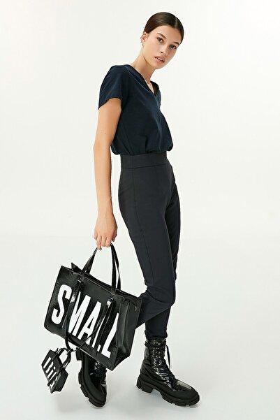 Twist Kadın Mavi Yüksek Bel Pantolon TW6200003090