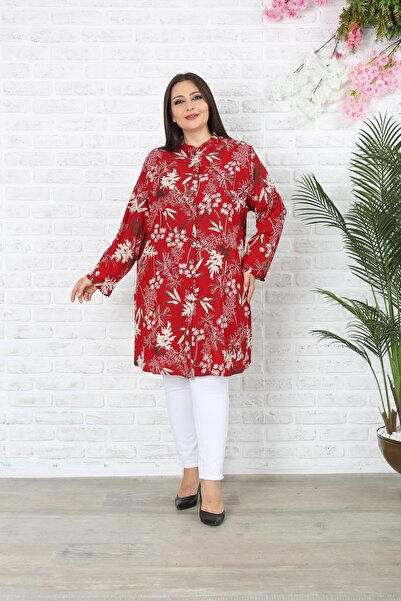 XL Modam Kadın Büyük Beden Yapraklı Tunik