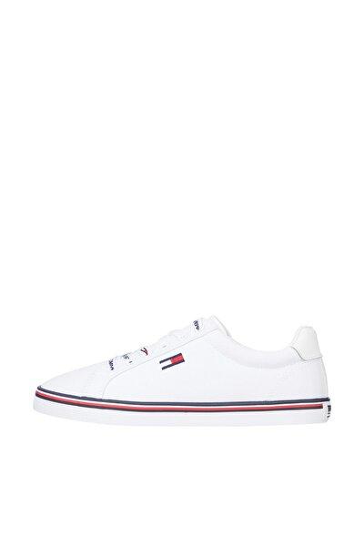 Tommy Hilfiger Kadın Beyaz Sneaker Essentıal Lace Up Sneaker EN0EN00786