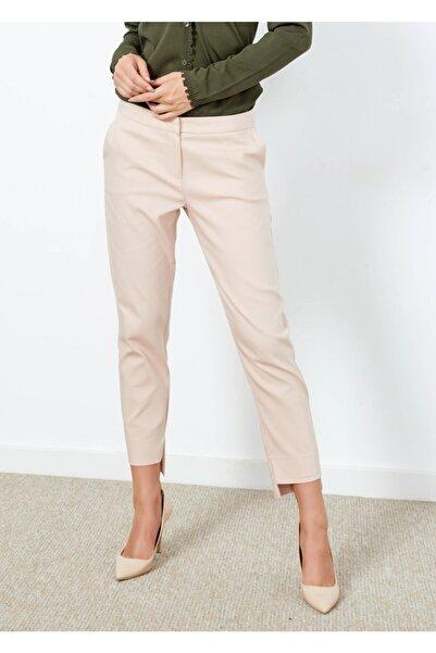 Adze Kadın Pudra Klasik Kesim Pantalon