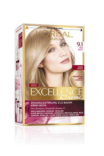 L'Oreal Paris Saç Boyası - Excellence Creme 9.1 Küllü Sarı 8690595357218