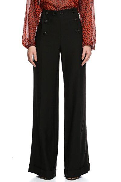 Jean Paul Gaultier Kadın Siyah Bol Paça Pantolon