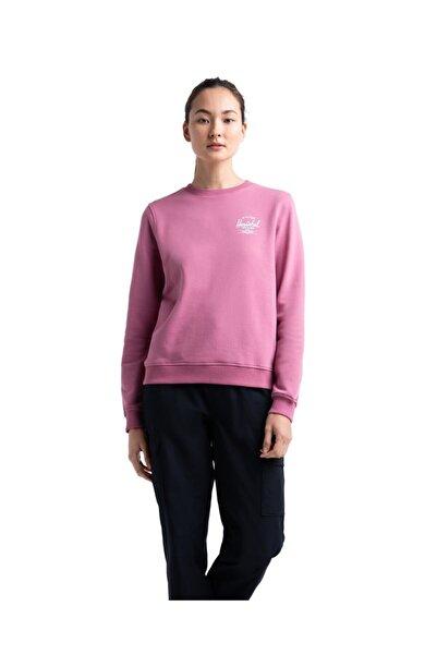 Herschel Supply Co. Kadın Pembe Herschel Crewneck Classic Logo Heather Rose/white Sweatshirt