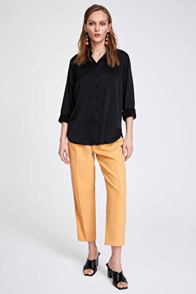 STELLA PULVIS Kadın Siyah Saten Gömlek