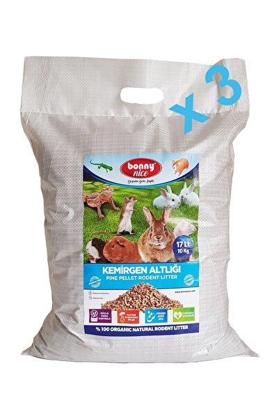 Bonny Nice Çam Pelet Kemirgen Altlığı 10 kg 17 litre - x 3 paket 51 litre