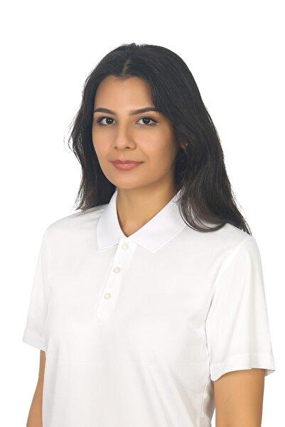Bayram İş Elbiseleri Kadın Beyaz Polo Yaka Forma Tişört
