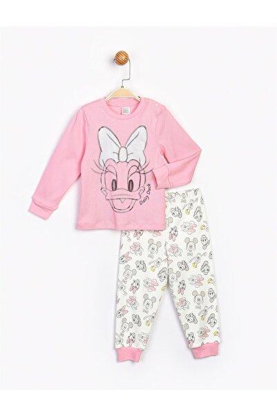 Minnie Mouse Kız Bebek Pembe Takım 16082