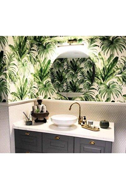 Adawall Indigo Tropical Yaprak Desenli Duvar Kağıdı