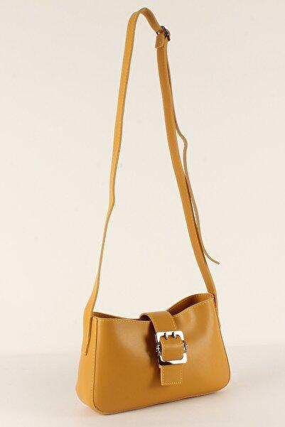 Luwwe Bag's Kadın Hardal Uzun Askılı Baget Çanta 10379