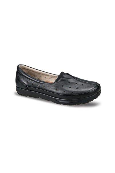 Ceyo Hakiki Deri Siyah Kadın Ayakkabı 4202