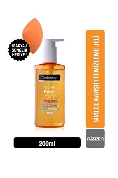Neutrogena Sivilce Karşıtı Günlük Yüz Temizleme Jeli 200 ml + Makyaj Süngeri Hediye