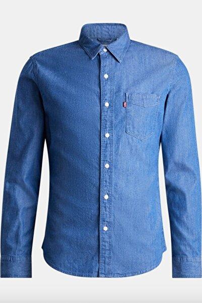 Levi's Erkek Slim Fit Mavi Gömlek 86619-0032