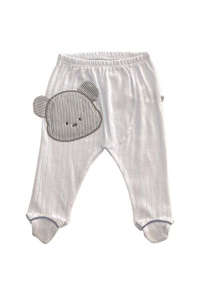 Bibaby Teddy Bear Patikli Tek Alt Beyaz
