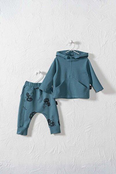 Moi Noi Unisex Bebek Ve Çocuk Carpe Diem Kapüşonlu Cepli 2 Parça Takım
