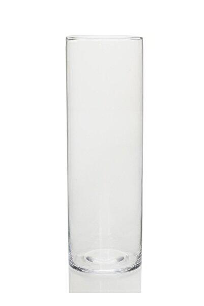 GLASSY Silindir Cm Vazo (10 Çap , 40 Cm)