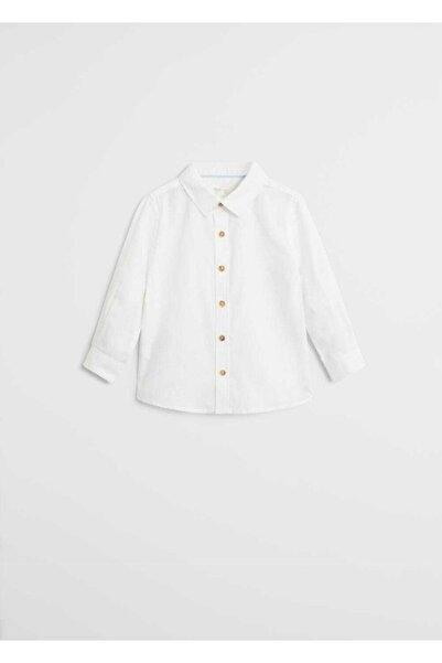 MANGO Baby Çocuk Beyaz Gömlek