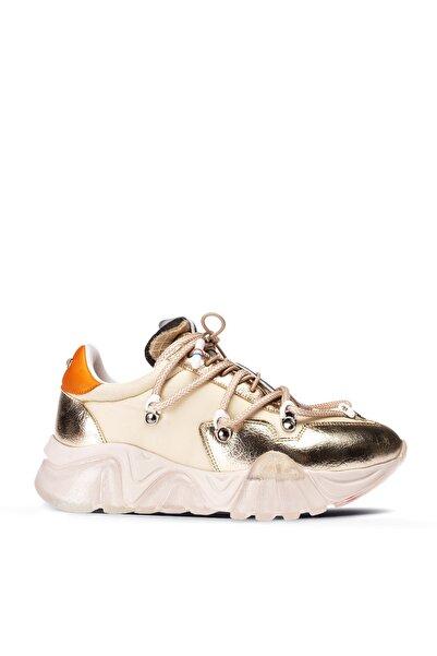 Deery Kadın Altın Rengi Sneaker Ayakkabı